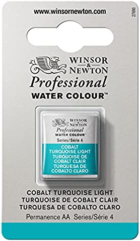 Winsor & Newton Half Pan Professional Water Colour - Cobalt Turquoise Light