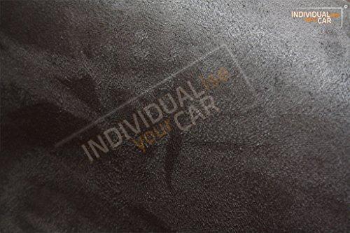 IndividualiseYourCar Mikrofaserstoff selbstklebend schwarz - ähnlich Alcantara - Stretch Folie Stoff (200cm x 146cm (28,59€/m²), Schwarz)