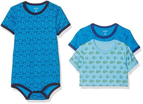 Brands 4 Kids A/S Care Baby - Jungen Kurzarm-Body im 3er und 6er Pack, Mehrfarbig (Blue 755), Frühchen (Herstellergröße: 44)