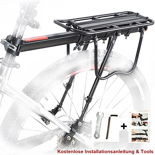 Price comparison product image Bike Pannier Rack, Bicycle Rear Rack Cycling Seatpost Rack MTB Aluminum Luggage Cargo Rack with Reflector