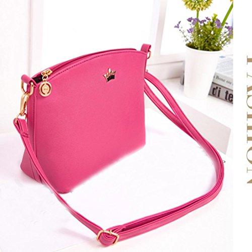 Frauen Umhängetaschen,Amlaiworld Mode Frauen Messenger Taschen Kreuz Muster Frauen Taschen Mini Frauen Schultertasche Hot Pink