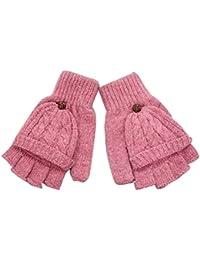 Nanxson(TM) Gants Mitaines Moufles Tricotées En Laine Automne Hiver Pour  Femmes ST0053 9342fc65362