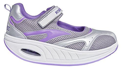 Fitness Step Urban Training - Zapatillas tonificadoras para Mujer, Color Gris/Morado, Talla 39