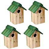 SIDCO Vogelhaus Nistkasten 4 Sk Vogelhäuschen Nisthöhle Nisthaus Nisthilfe Holz Meise