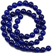 15Inch Abalorios Redondos Piedras Preciosas Sueltas Accesorio para Bisutería Artesanal Azul Real 8mm