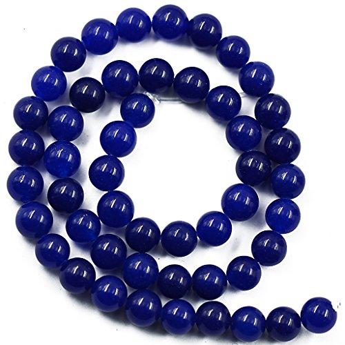 Lapis 8mm Reale Giada Blu Della Pietra Preziosa Rotonda Perle Filo Allentato 15 Pollici