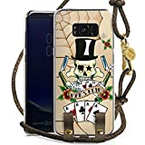 DeinDesign Samsung Galaxy S8 Plus Carry Case Hülle zum Umhängen Handyhülle mit Kette Skull Totenkopf Cards