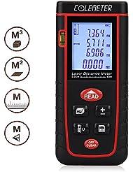 COLEMETER® Télémètre Numérique Laser Mesure / mesureur / calcul Mètre Distance Zone Surface Volume 0.2-40m rouge