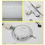 VINGO® 60W LED Starlight Effekt Deckenlampe Warmweiss Eckig Wandlampe 5700lm Schlafzimmer Deckenbeleuchtung Badezimmer geeignet
