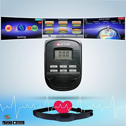 AsVIVA Unisex- Erwachsene Crosstrainer & Heimtrainer C16 Bluetooth grün 2 in 1 Cardio Crosstrainer, One Size