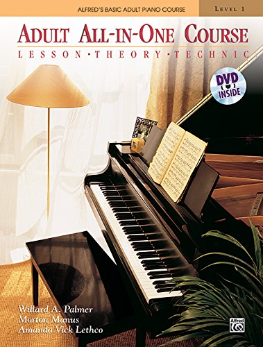 Price comparison product image Alfred's Basic Adult All-In-One Course,  Level 1: Lesson,  Theory,  Technic [With DVD] (Alfred's Basic Adult Piano Course)