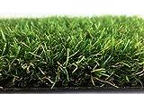 Deluxe Kunstrasen Tahiti - 32 mm 2.200 g/m² | Rasentepppich nach Maß | 100% Polyethylen | sehr strapazierfähig | Indoor Outdoor | für Garten, Terrasse, Balkon, Camping, Farbe:Grün, Größe:200 x 50 cm