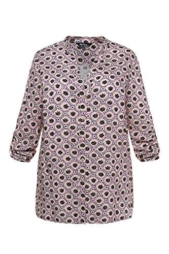 Ulla Popken Femme Grandes Tailles Chemise 715144 gris foncé imprimé