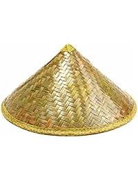 Su-luoyu Sombrero de paja pastoral oriental Sombrero de sol sombrero de bambú sombrero de lluvia turístico sombrero de campesino cónico sombrero de sol de pesca unisex