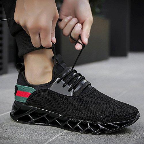 Feifei Chaussures Homme Printemps Et Automne Loisir Chaussures De Sport Confortables Et Respirantes 3 Couleurs (choix Multiple) (couleur: Gris, Dimensions: Eu39 / Uk6.5 / Cn40) Noir