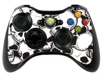Various Vinyl-Schutzhülle für Xbox 360 Controller/Gamepad, Motiv Totenköpfe -