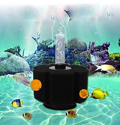 sunnymi Biologischer Schwammfilter/Aquarium Fry Betta Garnelen Nano Fisch Tank Teich Filtration Schaum/Mit Einer Luftbrücke/Hervorragende Filterwirkung (B)