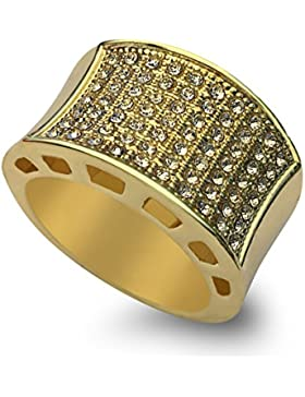 New 16K Gold vergoldet 19mm klar