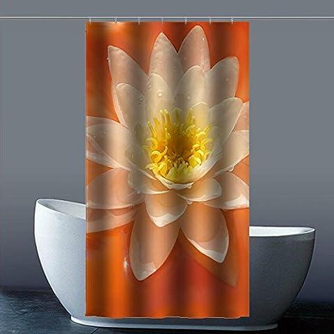 Coutume Peach Blossom Fleur de Pêche 100% polyester usine Rideau de douche Shower Curtain, Polyester, A, 36x72(inches)