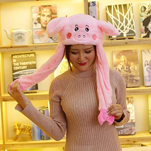 XINJIA Niedlicher beweglicher Hut, lustiger Plüschhut, lustige Plüschhut, Ohren bewegliche Springmütze, Cosplay-Kostüme Zubehör Kappe Plüsch-Spielzeug (Niedlich Verschiedenen Kostüm)
