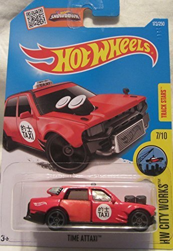 Time Attaxi Hot Wheels 2016 HW City Works 1:64 Scale Collectible Die Cast Metal Toy Car Model #7/10 on International Long Card by Time Attaxi