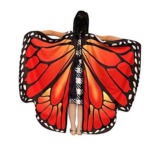 Robemon Damen Schmetterlings Flügel Schal Frauen Schmetterlingsflügel Schal Schals Damen Nymphe Pixie Poncho Kostüm Zubehör Cosplay Fasching Kostüm Für (Diy Vampir Mädchen Kostüm)