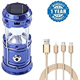 captcha Electric Rechargeable Solar Powered Camping Portable Lantern with Fiber 3-in-1 Lightning Micro USB Type-c Cable 2.1a Ultra Fast Charging