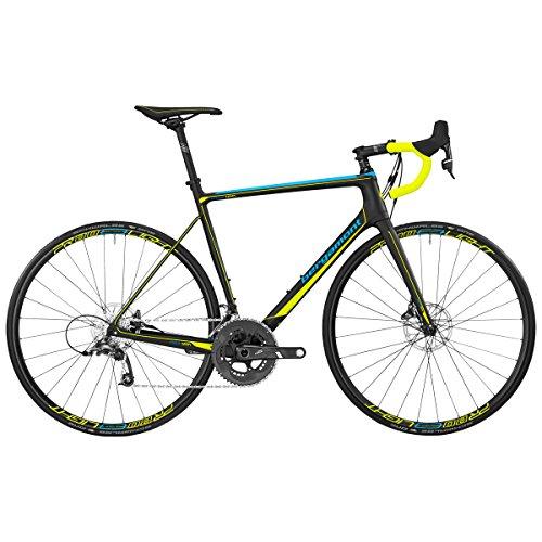 Bergamont Prime Team Carbon Rennrad schwarz/blau/gelb 2017: Größe: 50cm (162-168cm)