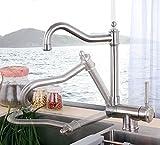 GFEI Cocina de acero inoxidable 304, agua fria y caliente agujero grifo giratorio plegable plegable única ventana, anti - stall fregadero, plato de Cuenca, bajo llave