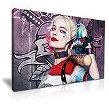 Suicide Squad Harley Quinn Batte de baseball Art mural sur toile imprimé 76cm x 50cm