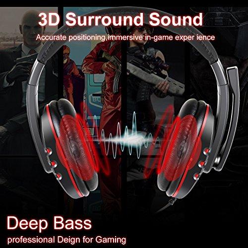JAMSWALL Gaming Headset 3.5mm Wired Over-head Cuffie stereo con microfono  Microfono Controllo volume per PS4 Xbox One PC Laptop Smartphone. IMMAGINI.  Click ... 70a0e218cf11
