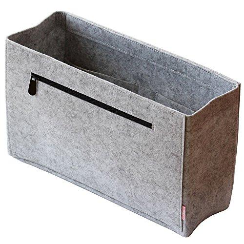 Classic Slash Taschenorganizer für Neverfull GM I Handtaschenordner Taschen Organisator Einsatz aus Filz - Grau - X-Large - für Taschen ab 36cm Innenmaß (X-large-tasche)