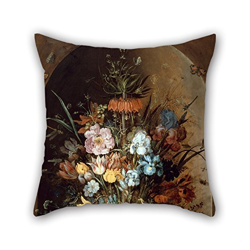 Slimmingpiggy Pillowcase Of Oil Painting Roelant Saverij - Large Flower Still Life With Crown Imperial 20 X 20 Inches / 50 By 50 Cm,best Fit For Bedding,him,divan,dinning Room,christmas,club 2 Side