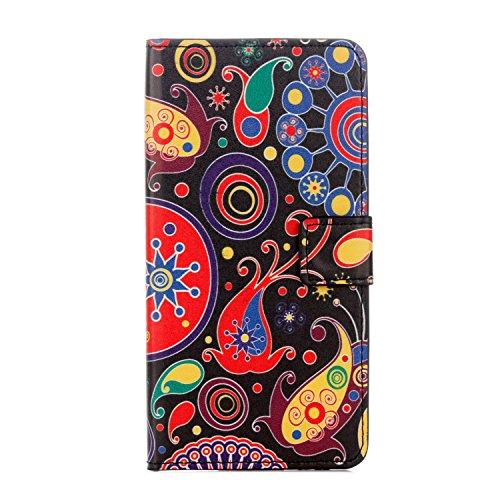 Huawei Honor 6A Handyhülle Book Case Huawei Honor 6A Hülle Klapphülle Tasche im Retro Wallet Design mit Praktischer Aufstellfunktion