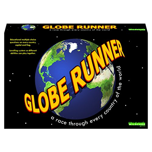 GLOBE RUNNER � Educational fun family board game for both kids and adults that races around the world through every country.