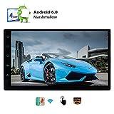 Doppel-DIN-Autoradio Andoird Release 6.0 kapazitiver Touch Screen Quad-Core-RAM 1GB ROOM 16 GB Flash-Speicher-Head Unit Unterst¨¹tzung AM FM Radio OBD2 Wifi-Hotspot und 3G / 4G-Dongle + Mirrorlink Le