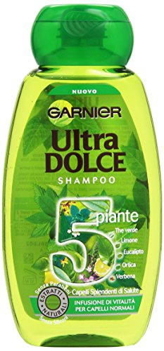 Garnier Ultra Dolce 5 Piante Shampoo Infusione di Vitalità per Capelli Normali, 250 ml