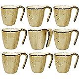 Premium Quality Hi-Luxe Designer Tea/Coffee Cup Set 6 Pcs (Off White)