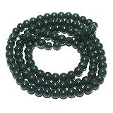 #9: Jewellery Making Jaipuri Round Beads Jaipuri Round Beads Dark Green , Size 4 mm, Pack of approx 200 pcs