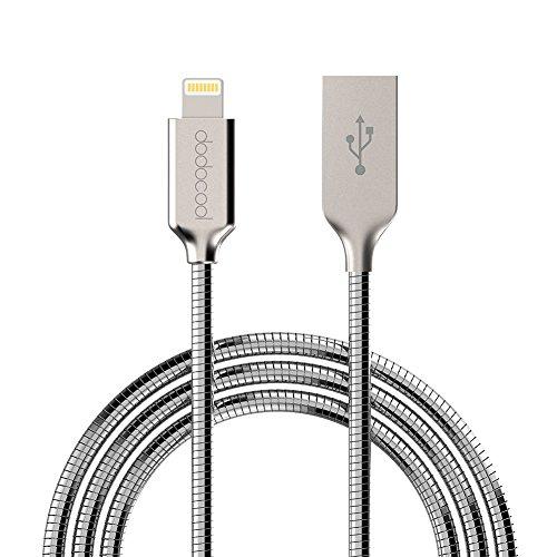 dodocool MFi Certifié Câble Lightning vers USB 2.0 Mini et Compact pour iPhone X/8 plus/8/7 plus/7/iPad Pro/Air 2/mini/iPod touch 5ème/6ème génération/iPod nano 7ème génération Argent