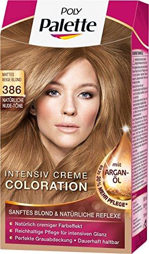 Poly Palette Intensiv Creme Coloration, 386 mattes beige blond stufe 3, 3er Pack (3 x 1 Stück)