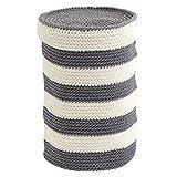 iDesign 04553EU Ellis gestrickter Behälter für Toilettenpapier, grau / elfenbein