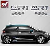Kit Aufkleber DS3R1GTD–Chrom–Sticker, selbstklebend, Citroen, Deco, Tuning