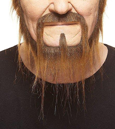 Langer brauner Siedlerr fälschen, selbstklebend Bart