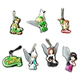 7 pcs Peter Pan Tinkerbell Zipper Pull Charms for Jacket Backpack Bag Pendant