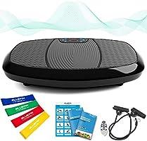 Bluefin Fitness Dual-Motor 3D Vibrationsplatte   Extra Große Anti-Rutsch-Oberfläche   Bluetooth Lautsprecher   Fett...