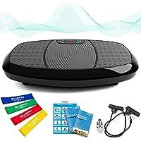 Bluefin Fitness Dual-Motor 3D Vibrationsplatte | Extra Große Anti-Rutsch-Oberfläche | Bluetooth Lautsprecher | Fett Abbauen und Body Shaping von Hause | UK Design