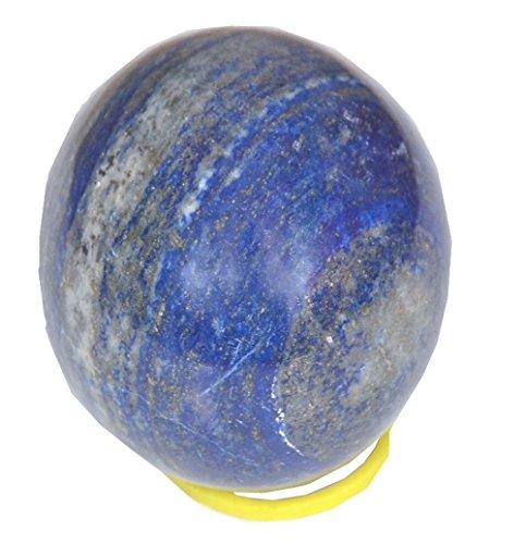 wholesalegemshop 6,3cm blau Lapislazuli Kugel natur Kristall Kugel poliert Mineral Stein Afghanistan