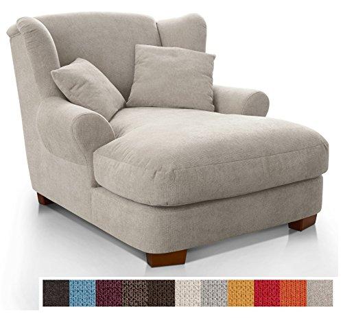 CAVADORE XXL-Sessel Oasis / Großer Polstersessel im modernen Design / Inkl. 2 schöne Zierkissen /...