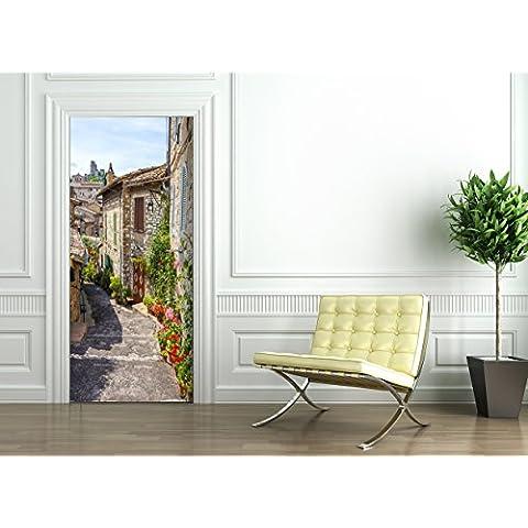 Poster Autoadesivo porta e pareti - VICOLO TOSCANA - murale foglio di porta